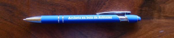 Stylo Archets en bois de Robinier 1
